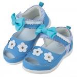 (13~16公分)BABYVIEW頂級日式冰雪藍後跟包覆機能涼鞋'