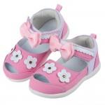 (13~16公分)BABYVIEW頂級日式櫻花粉後跟包覆機能涼鞋'