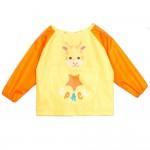 (S~L)小小長頸鹿黃色兒童長袖圍兜