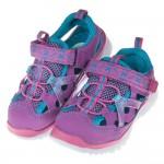 (18~22公分)高透氣性紫藍色網布桃邊兒童運動鞋'