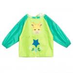 (S~L)小小長頸鹿綠色兒童長袖圍兜