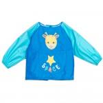 (S~L)小小長頸鹿藍色兒童長袖圍兜