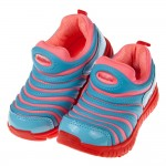 (16~22.5公分)時尚亮彩水藍粉色毛毛蟲潮流兒童運動鞋