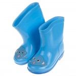 (15~19公分)活潑小象藍色柔軟兒童輕量雨鞋