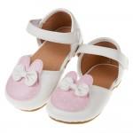 (13.5~16.5公分)甜美小兔粉色寶寶花童公主鞋'