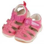 (14~18公分)BABYVIEW頂級皮質粉色兒童運動護趾涼...