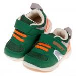 (13~16.5公分)BABYVIEW活潑寶寶墨綠色透氣機能寶寶學步鞋