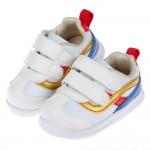(13~18公分)BABYVIEW頂級白色流線柔軟機能寶寶學步鞋