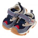 (14~19公分)BABYVIEW特選透氣藏藍灰寶寶機能學步鞋