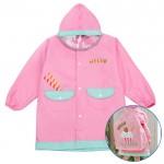 (S~XL公分)草莓甜心粉色可背書包兒童雨衣