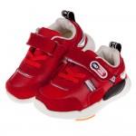 (14~16.5公分)BABYVIEW皮質帥氣紅色寶寶機能學步鞋