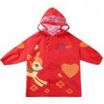(S~L公分)韓版防水防風紅色小鹿兒童雨衣