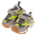 (14~19公分)BABYVIEW特選透氣灰綠色寶寶機能學步鞋