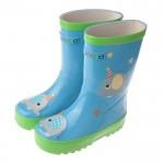 快樂小象天空藍色橡膠雨鞋(16~22公分)