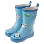 藍色太空火箭人橡膠底防滑雨鞋(16公分~22公分)