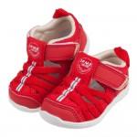 (12~15公分)日本IFME紅色和風寶寶機能水涼鞋P#HD...