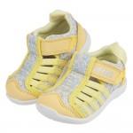 (12~15公分)日本IFME黃色和風花繪寶寶機能水涼鞋P#...