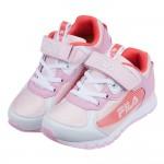 (19~24公分)FILA粉紅桃經典風潮兒童機能運動鞋P#K...