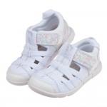 (15~19公分)日本IFME白色和風花繪兒童機能水涼鞋P#...