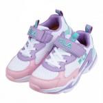 (19~24公分)FILA潮流配色粉紫藍兒童運動鞋P#KU3...
