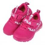 (16~22公分)FILA透氣舒適氣墊桃色橡膠底兒童運動鞋P...