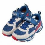 (19~24公分)FILA潮流配色深藍米兒童運動鞋P#KU3...