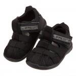 (12~15公分)日本IFME黑色和風寶寶機能水涼鞋P#HE...