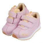 (16~22公分)FILA義式經典粉金橡膠底兒童運動鞋R#K...