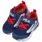(16~22公分)FILA康特杯系列藍紅色兒童氣墊運動慢跑鞋...