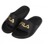 (17~24公分)FILA黑色中童運動拖鞋P#BE3ND*X...