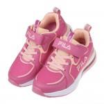 (19~24公分)FILA康特杯系列橘桃色兒童氣墊慢跑運動鞋P#KU3NH*XXG