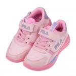 (19~24公分)FILA康特杯系列輕量慢跑粉色兒童運動鞋P...