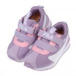 (16~22公分)FILA康特杯系列義式金典藕紫色兒童慢跑鞋...
