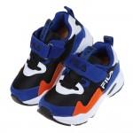 (16~22公分)FILA康特杯系列黑藍色復古潮流兒童運動鞋...