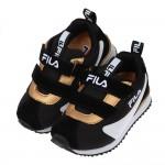 (16~22公分)FILA康特杯系列義式金典黑色金邊兒童慢跑...