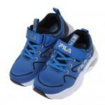 (19~24公分)FILA康特杯系列樂活輕量藍色兒童運動鞋P...