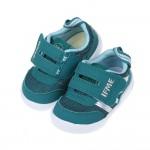 (12.5~15公分)日本IFME和風銀光藍綠寶寶機能學步鞋...