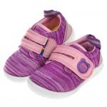 (12.5~15公分)日本IFME輕量小熊紫色寶寶機能學步鞋