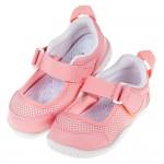 (15~19公分)日本IFME透氣網布粉紅色兒童機能室內鞋