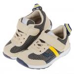 (15~21公分)日本IFME條紋米黃色兒童機能運動鞋