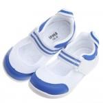 日本IFME夏日藍白透氣網布機能室內鞋(15~22公分)
