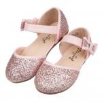 (15~19公分)閃亮粉紅蝴蝶結兒童公主涼鞋V#HH2HG*...