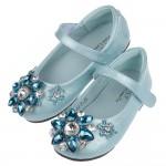 (16~21公分)冰晶鑽石水藍色兒童公主鞋P#FG3JB*X...