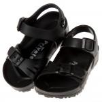 (15~22公分)PRIVATE台灣製超輕量黑色兒童涼鞋