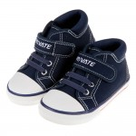 (14~16公分)百搭時尚藍色寶寶帆布休閒鞋