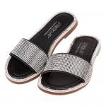 (16~21公分)金豪華水鑽黑色兒童拖鞋P#BH3JD*XG...
