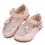 (13~15公分)可愛小老鼠鑽飾粉色皮質娃娃鞋P#FH3KG...