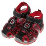 (15~17公分)民族風圖騰紅色寶寶護趾涼鞋