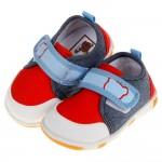 (12.5~14.5公分)牛仔布帥氣紅寶寶嗶嗶學步鞋