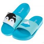 (20~27.5公分)萌萌動物藍色企鵝親子拖鞋